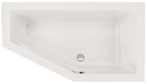 Aqualuxbad Raumsparwanne Acryl 160x90x49 cm weiss Badewanne, Ausführung:rechts
