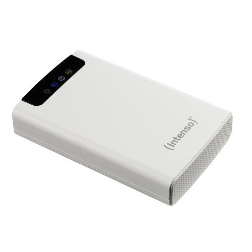 festplatte mit bluetooth Intenso Memory 2 Move 500GB externe Festplatte mit WiFi (6,4 cm (2,5 Zoll) 5400rpm, 8MB Cache, USB 3.0) weiß