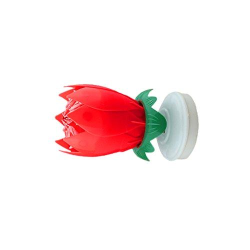 Primero-de-Torta-Pasteles-Vela-Musical-Flor-de-Loto-Decoracin-Para-Fiesta-Cumpleaos-Rojo