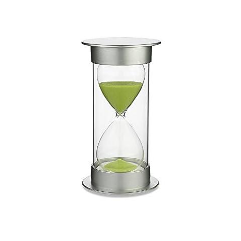 Zhi Jin Kristall 30Minuten Sanduhr Sanduhr Sand Timer Uhr für Kinder Schreibtisch Geschenk Küche Home Dekoration Green Sand