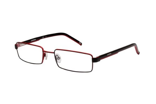 New Authentic CARRERA RX Eyeglasses CA7571 WZR Black Red White Men 52mm