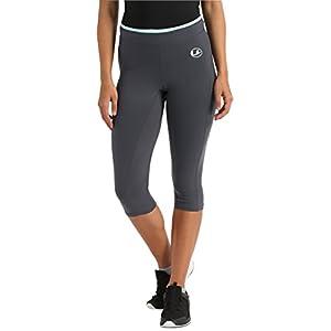 Ultrasport Advanced Damen Fitnesshose, Sporthose, Caprihose, hochelastisches, hautsympathisches Gewebe, atmungsaktiv und schnelltrocknend, mit justierbarerem Bund in Kontrastfarbe
