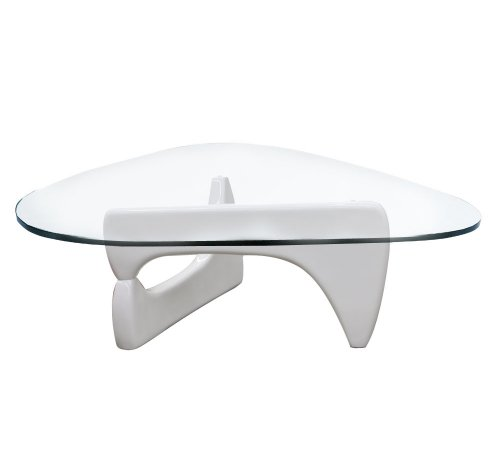 Isamu White Gloss Coffee Table Glass Designer New By Limitless Base