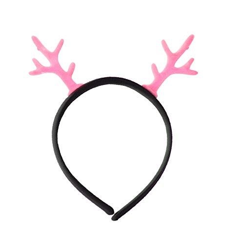 Mini Adult Rosa Schleife Kostüm - Weihnachtsschmuck Haarreif Elk Geweih Stirnband Xmas