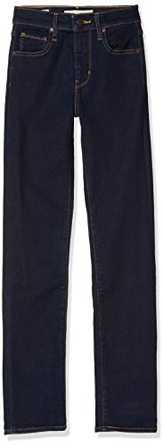 Levi's 724 High Rise Straight Jean Droit, Noir (to The Nine 0015), W32/L34 (Taille Fabricant: 32 34) Femme