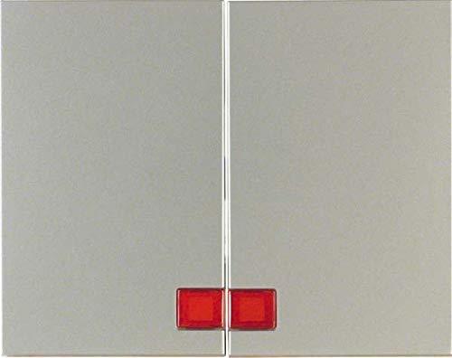 Hager 14377004 interruptor de luz Acero inoxidable - Interruptores de luz (Acero...