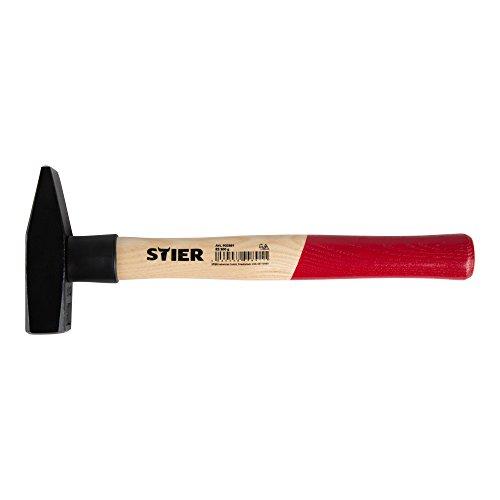 STIER Schlosserhammer Robust+, 500 g, mit Stielschutz, DIN 1041, Spezialstahl, hohe Qualität, Abrisshammer, geschmiedeter Hammerkopf