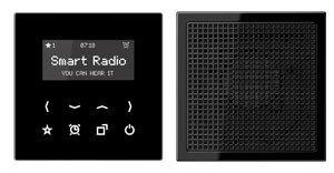 Preisvergleich Produktbild Jung Smart Radio - Set Mono Serie LS Schwarz, 1 Stück, RAD LS 918 SW