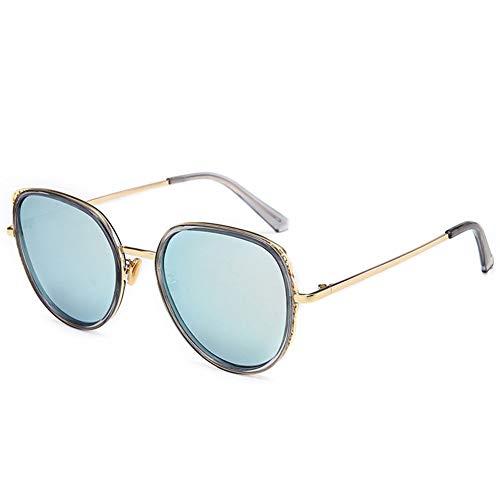 LXC Women es S Sungbrillen, 2019 Neue Round Frame Sunglasses Fashion Colorful Ocean Glasses Retro Round Sonnenbrillen Frauen ' S Brand Design Metal,a