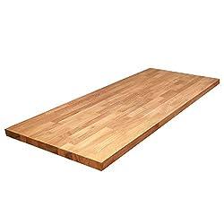 WORKTOPEXPRESS Solid Oak Wooden Kitchen Worktops - 2000mm x 620mm x 40mm 40mm Stave Wood Timber Kitchen Surfaces