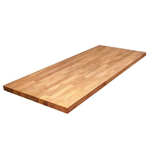 WORKTOPEXPRESS Arbeitsplatten Eiche Massiv wie Frühstückbars (2000mm X 960mm X 40mm) - Holz Arbeitsplatte