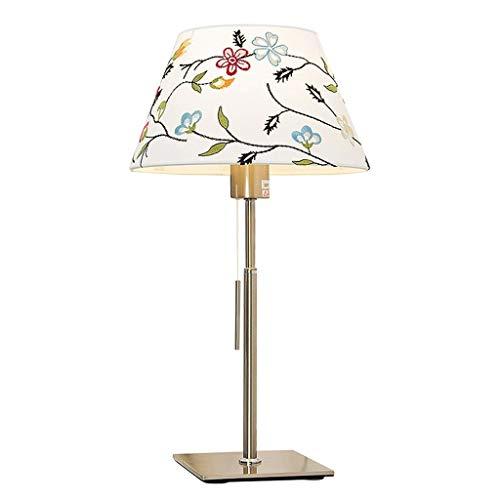 A-Lnice Tischlampe Nordic Modern Metal Schreibtischlampe aus gebürstetem Nickel Nachttischlampen for das Büro Schlafzimmer E27 -