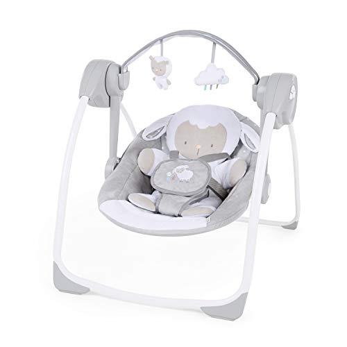 Ingenuity, tragbare Babyschaukel, Cuddle lamp - mit Melodien, Zeit- und Schaukeleinstellung