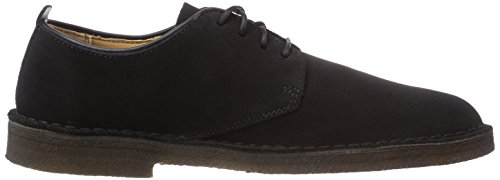 Clarks Originals Desert London, Scarpe Stringate Basse Derby Uomo Nero (Black Sde)