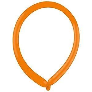 amscan 9905501 E160 - Globos de látex (100 Unidades), Color Naranja