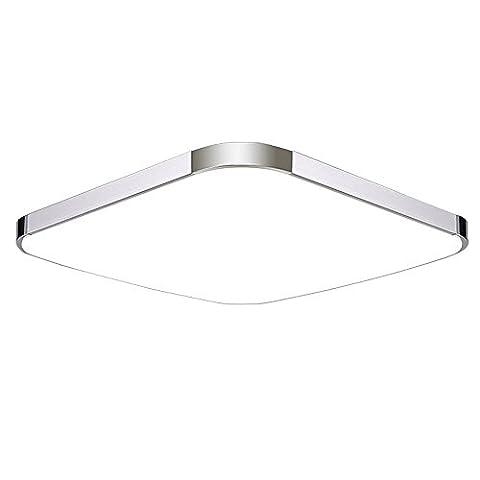 SAILUN 12W LED Deckenlampe Kaltweiß Modern Deckenleuchte Schlafzimmer Küche Energie Lampe Flur Wohnzimmer Silber (12W Silber Kaltweiß)