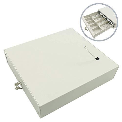 BeMatik   Cajón portamonedas Beige automático RJ11 para Impresora TPV POS para Billetes y Monedas