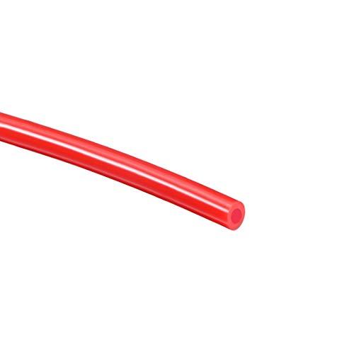 Sourcingmap - Tubo de silicona (3 mm de diámetro interior x 6 mm de diámetro externo, 9,8 pies, tubo de goma de silicona flexible, para transferencia de bomba, color rojo)