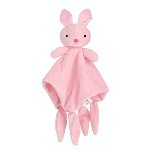Toyvian Baby Schnuffeltuch Schmusetuch Kaninchen Hase Kuscheltier Einschlafhilfe für Baby Mädchen und Jungen -