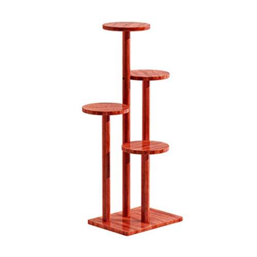 Ablagegestelle YCDJCS Blumen-Stand-Haushalts-mehrschichtiger hölzerner Balkon-Topf-Gestell-Boden-Wohnzimmer-Betriebsstand (Color : Red, Size : 40 * 30 * 98cm)