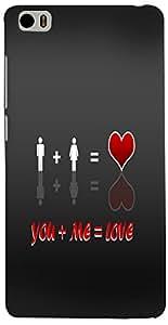 PRINTVISA Love Quotes Case Cover for Xiaomi Mi5