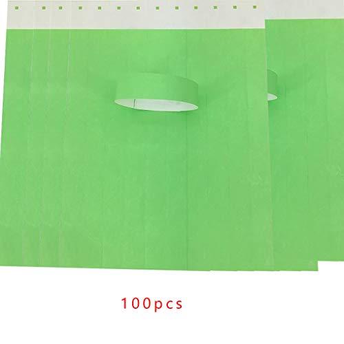 Kineca 100Pcs / Set wasserdichte Einweg Event Armbänder Non-Woven-Gewebe-Papier Armbänder Vergnügungspark Eintrittskarten (Papier-armbänder Für Ereignisse)