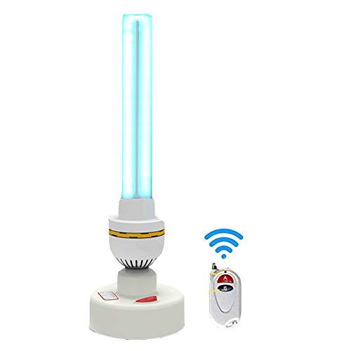 UV-Sterilisationslampe Desinfektionslampe Haushalts-UV-Entkeimungslampe 36 Watt Tischterilisator Reinigt Luft, Ozonentfernungslampe Kein Ozon + Fernbedienung Weiß -