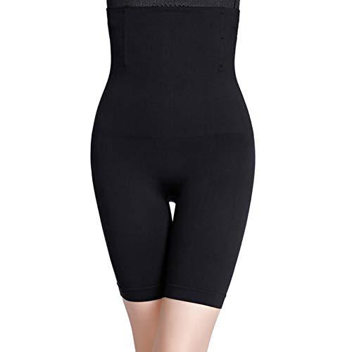 SHANGLY Damen Nahtlos Figurformend Kolben-Heber Waist Trainer Kompression Bauch Schenkel-Steuerung Shapewear Höschen,Black,XXXL (Bauch-steuerung Damen Höschen)