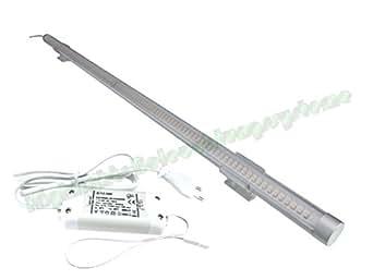 Highlights Réglette orientable LED SMD blanc froid pour vitrine avec transformateur et prise Aluminium 12 W 1015 mm