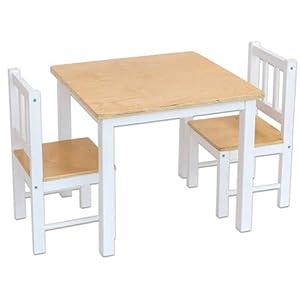 Betzold 756010 – Kinder-Sitzgruppe, 3-TLG., Kinderzimmer Kindermöbel-Set Sitzgarnitur Kindertisch Kinderstühle