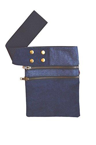 Riñonera Azul con cintura elástica