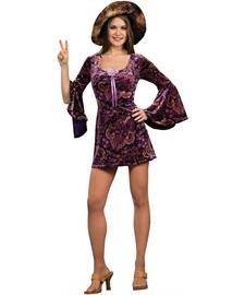 Rubies 1960's Groovy Hippie Girl Womens Dress - Women's 1960's Groovy Lady Kostüm