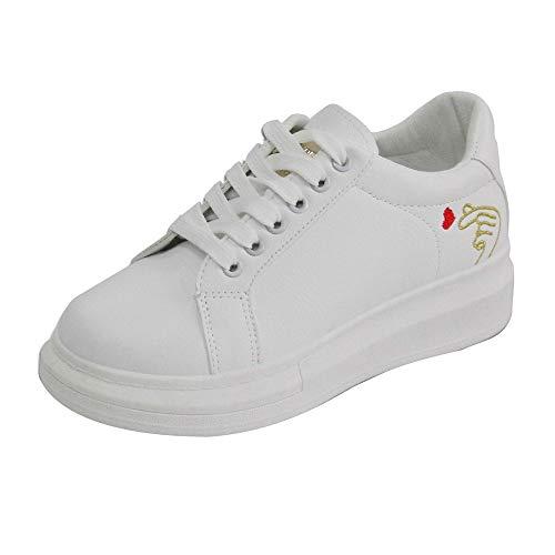 Baskets Basses Femme Manadlian White Shoes Plateforme Respirante Chaussures étudiantes Occasionnelles Sneakers Sauvages 2018