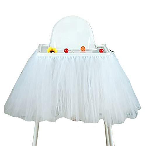 Geburtstag Hochstuhl Tüll Tisch Rock Party Baby Dusche Dekoration Hochstuhl Tütü Stuhl Ballettröckchen Deko Blau Silber Rosa Gold Rot Lila Weiß Schwarz