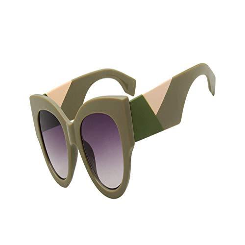 FGRYGF-eyewear2 Sport-Sonnenbrillen, Vintage Sonnenbrillen, Women Round Sunglasses NEW Brand Designer Vintage Oversized Black Pink Thick Frame Cat Eye Sun Glasses For Women UV400 03