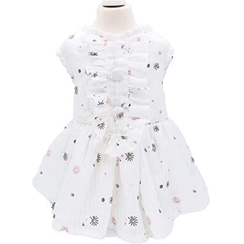 QLMS Frische Baumwolle dünne Röcke, Hund Kleidung, Frühling und Sommer als Teddy Bären, Bomei Kleidung (Size : XL)