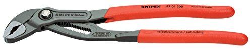 KNIPEX 87 01 300 SB - COBRA TENAZA PARA BOMBAS DE AGUA HIGHTECH (RECUBIERTOS DE PLASTICO ANTIDESLIZANTE  300 MM)  GRIS ATRAMENTADO