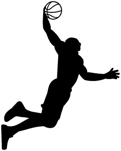 Aufkleber Basketball (Samunshi® Aufkleber Basketball Slam Dunk Autoaufkleber in 8 Größen und 25 Farben (24x30cm schwarz))