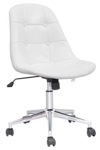 SixBros. Design Rollhocker Arbeitshocker Hocker Bürostuhl Weiß - M-65314-1726