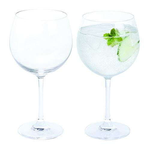 Dartington Crystal de Vino y Bar/Copa Gin y Tonic, Claro, Pack de 2