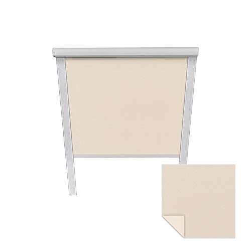 Victoria M. Verdunkelungsrollo passend für Velux-Dachfenster SK08 6016 Creme