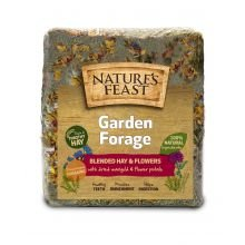 Natures Feast 2600105 1 kg NF Rabbit Hay with Dried Flowers - Green