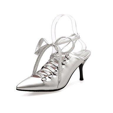 LvYuan Da donna-Sandali-Formale Casual Serata e festa-Altro-A stiletto-PU (Poliuretano)-Argento Dorato Silver
