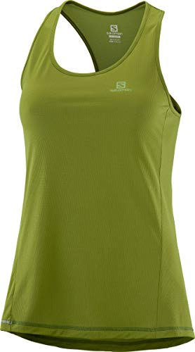 SALOMON Damen Agile W Sport-Tank Top, Grün (Avocado), M