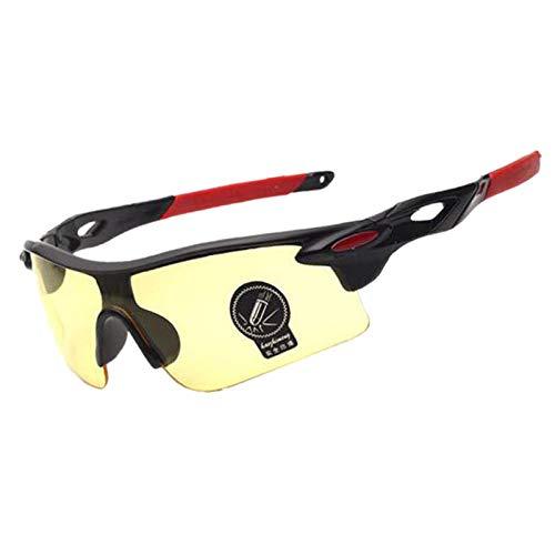 GTVV Herren und Damenbrille UV400 Motorrad Herren Sportbrille polarisierte Fahrradreitbrille 3 Einheitsgröße