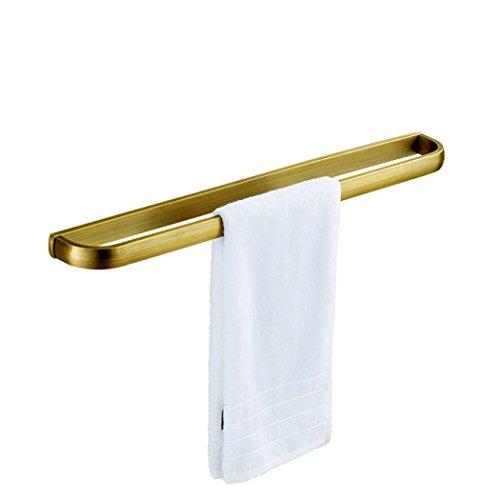 LD&P Handtuchhalter Badezimmer Wandmontage Kupferstangen-Handtuchhalter Europäisches Badezimmer-Badezimmer-Hardware, gebürstetes Ende