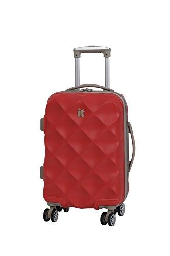 it luggage Debossed Diamond Koffer, 55 cm, 45 liters, Rot (Aurora Red)