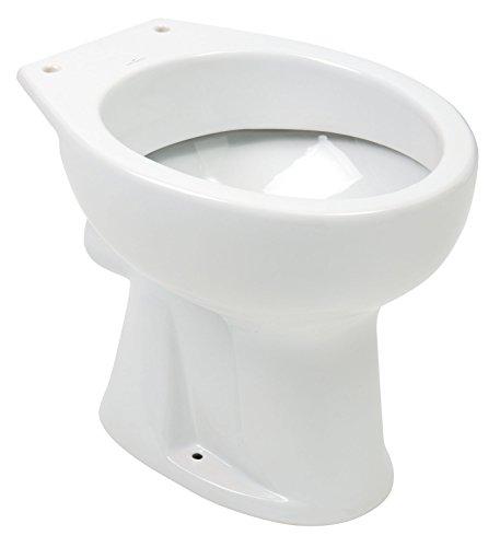 Stand-WC | Flachspüler | Abgang waagerecht | Weiß | Toilette | Gäste-WC | Bad | Badezimmer | Klo | Keramik