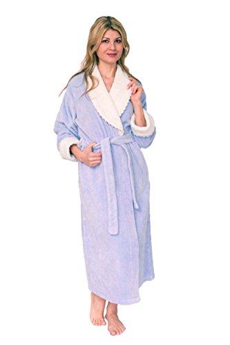 Bath & Robes Damen Bademantel aus weicher Baumwolle Chenille - - 2X Mehr -