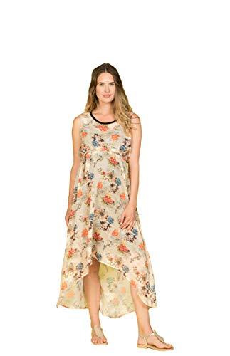 Love2Wait Umstandskleid Stillkleid Damen Sommerkleid leicht luftig (40 (Herstellergröße: L), Print)